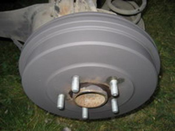 Как убрать ржавчину с барабанных тормозов