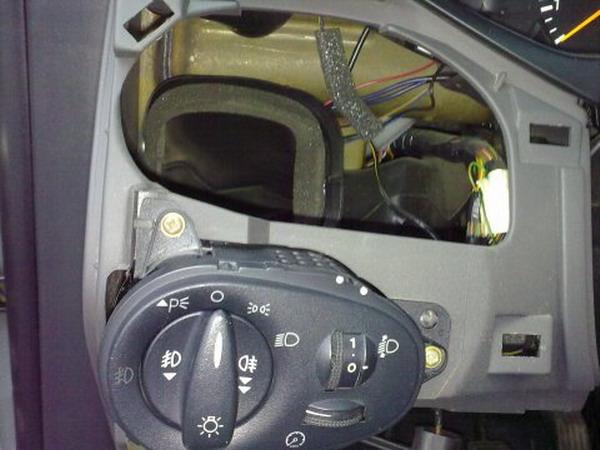Снятие блока управления освещением Форд Фокус 1
