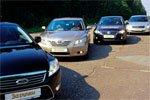 ����: Nissan Teana, Ford Mondeo, Volkswagen Passat, Toyota Camry