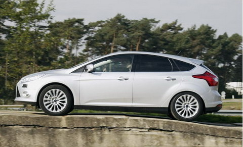 Ford Focus на тестовом полигоне в Бельгии