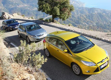 Ford Focus 2.0 TDCi | Opel Astra 2.0 CDTI | VW Golf GTD