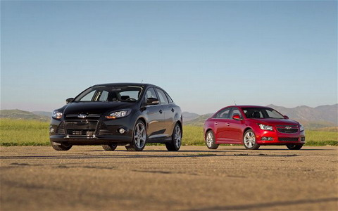 Ford Focus Titanium vs Chevrolet Cruze LTZ RS