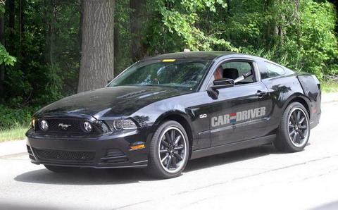 Ford Mustang 2015 проходит испытания подвески