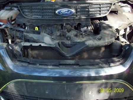 FF2 2008 Снятие верхней решетки радиатора