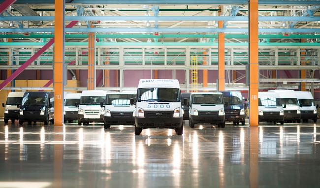 На заводе Ford-Sollers выпущен пятитысячный Ford Transit