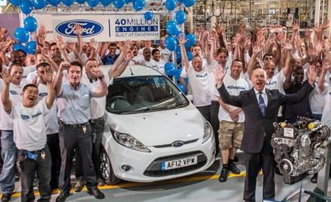 Английский завод Ford выпустил 40-миллионный двигатель