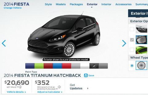 Ford Fiesta ����� �������� ������ �� $ 14.000