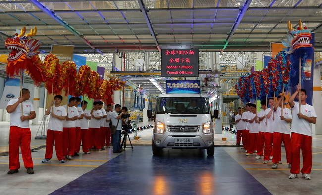 Ford отмечает производство 7-миллионного фургона Transit
