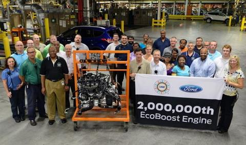 Форд празднует производство двухмиллионного двигателя EcoBoost