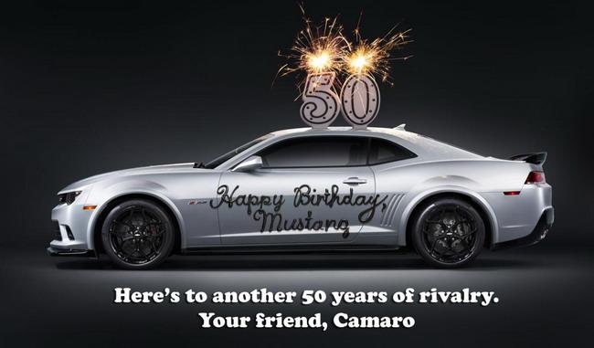 Chevrolet воздает должное 50-летию Мустанга