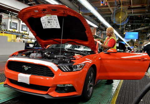 Начинается производство 2015 Ford Mustang