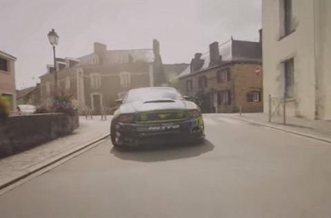 Вон Гиттин дрейфует на Mustang RTR во Франции