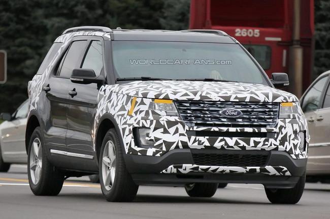 2016 Ford Explorer пойман с минимальным камуфляжем