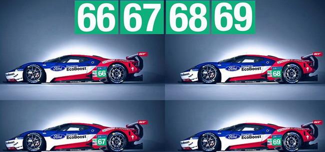 4 автомобиля Ford GT вошли в список участников гонки «24 часа Ле-Мана»